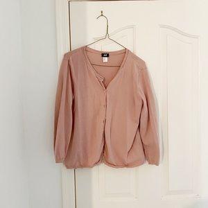 H&M Rose Pink Basic Cardigan
